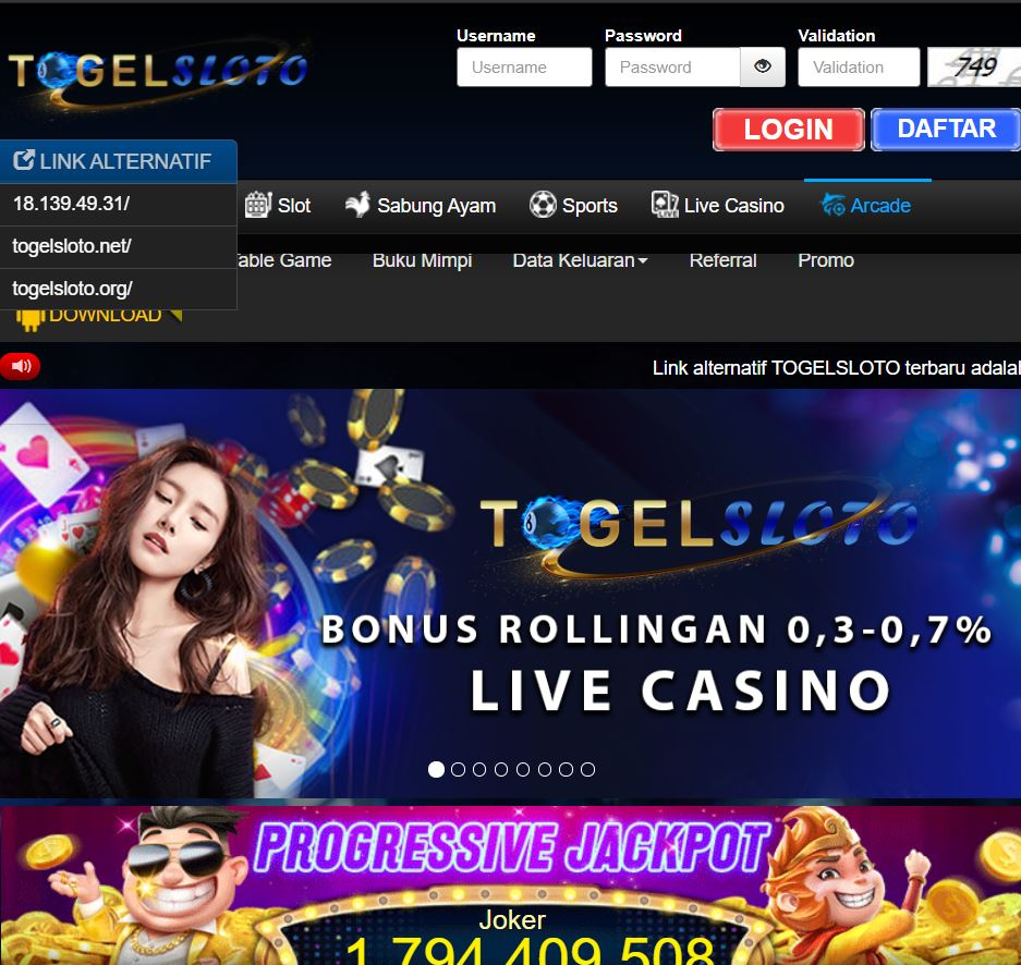 Togelsloto Situs Slot Online Yang Terlengkap Dan Terpercaya